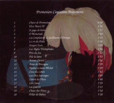 CD promotion capitaine Beaumont (verso)